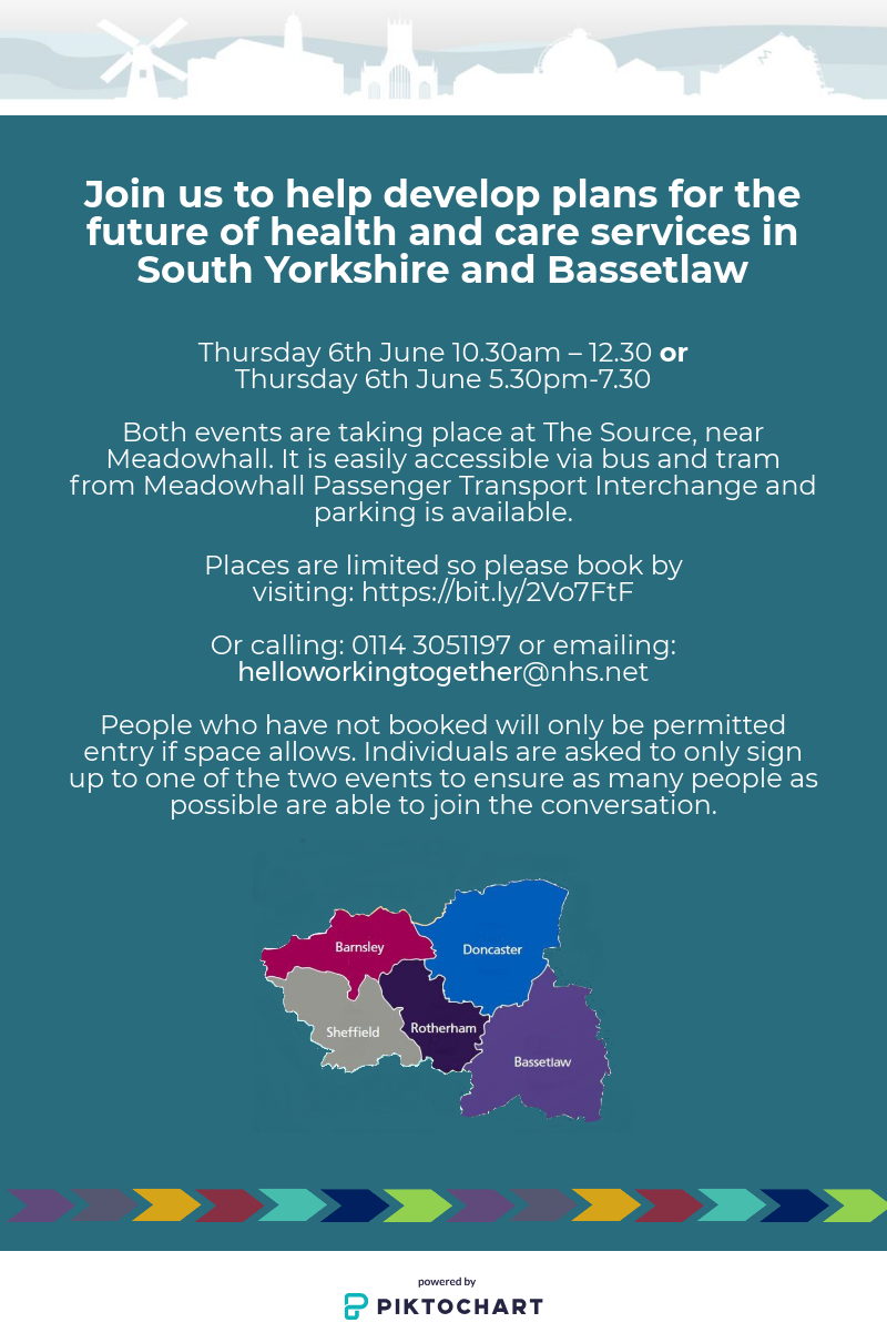 Join us to help develop plans for the future of health and care services in South Yorkshire and Bessetlaw