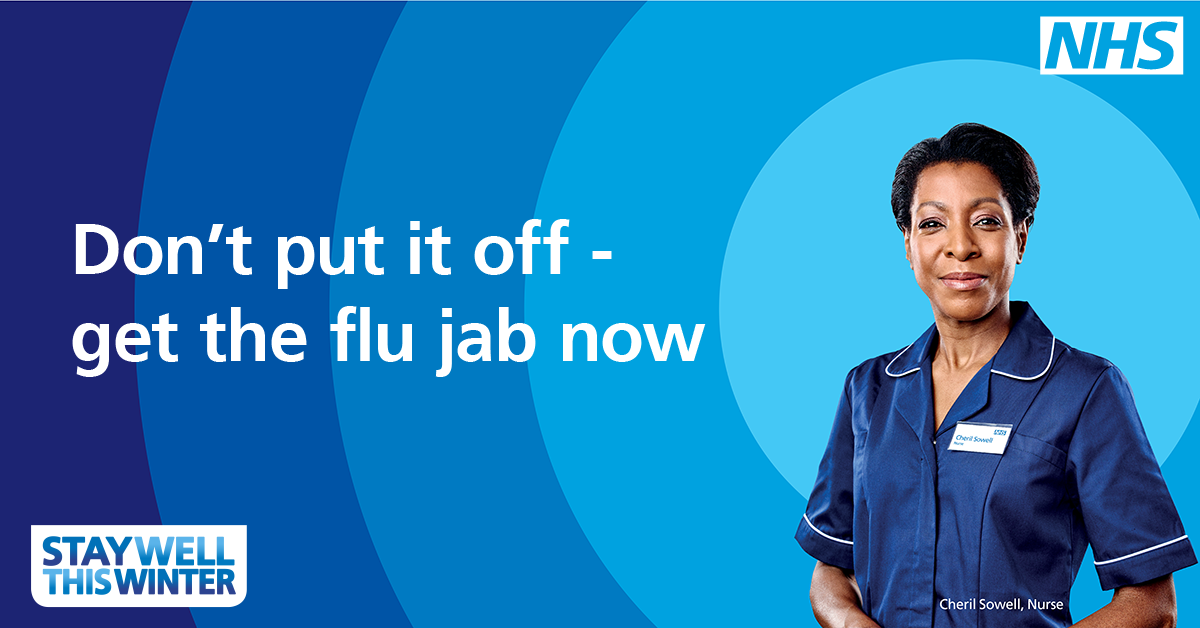 Flu vaccination prompt to book.